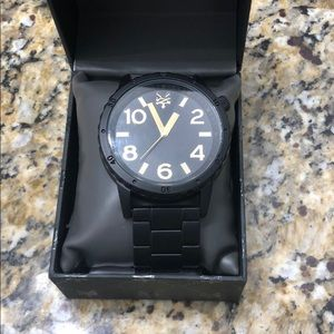 ZooYork mens black and gold watch
